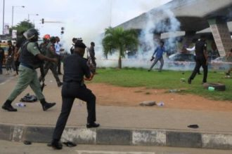 Police, soldiers disperse #RevolutionNow protesters