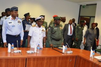 JUST IN: Finally, Service Chiefs appear before Gbajabiamila led House