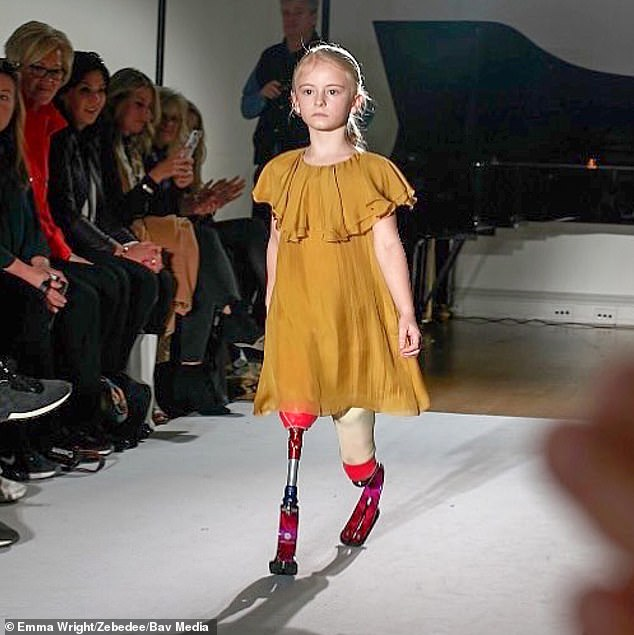 Photo of 9-year-old double amputee to model at Paris Fashion Week