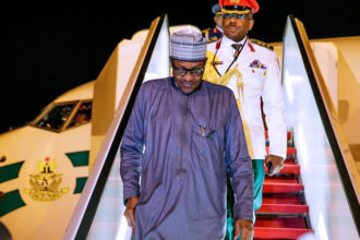 Buhari returns to Abuja after Egypt trip