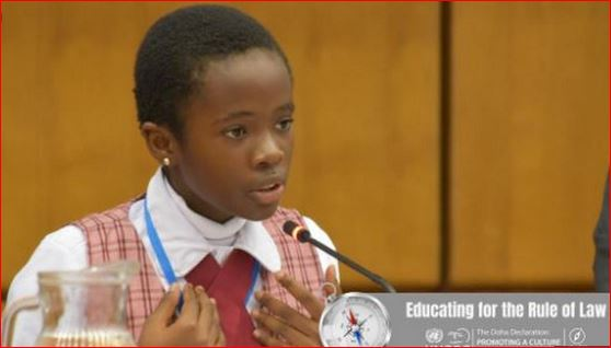 Photo of 11-year-old student represents Nigeria at anti-corruption conference in Austria