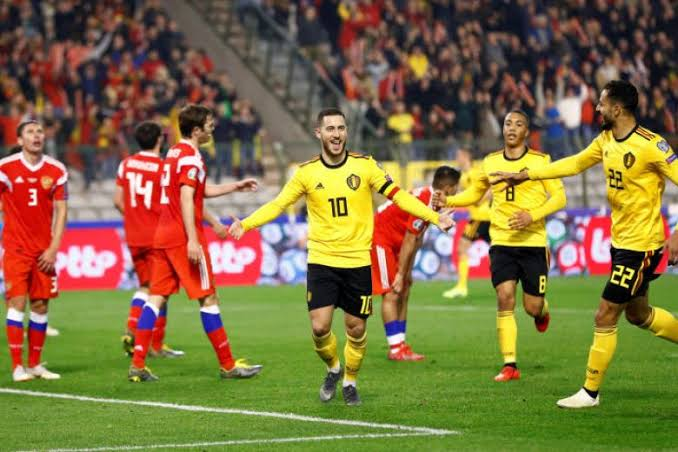 Photo of Euro 2020 qualifiers: Hazard brothers shine as Belgium whip Russia 4-1