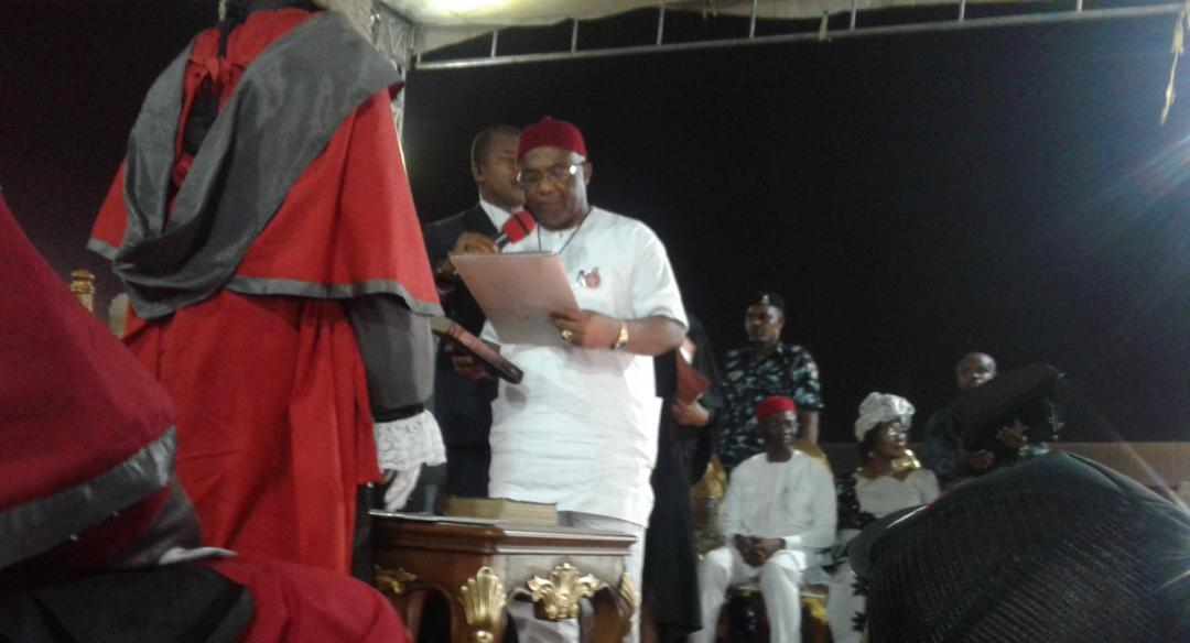 Photo of Just In: Uzodinma sworn in as sixth elected Governor, assures a better Imo