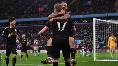 EPL: Manchester City thrash Aston Villa 6-1