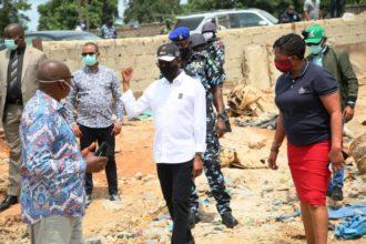 Photo: Okowa demolishes popular Abraka market, gives reasons
