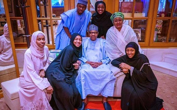 Photo of PHOTOS: Buhari observes Eid prayers with family