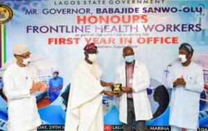 Photo: Sanwo-Olu dedicates first anniversary to frontline health workers