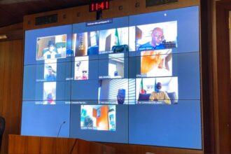 Video: Buhari, Osinbajo, Govs, others attend Giadom's APC NEC meeting