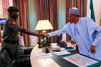 Buhari, Chief of Army Staff Buratai meet behind closed door in Abuja
