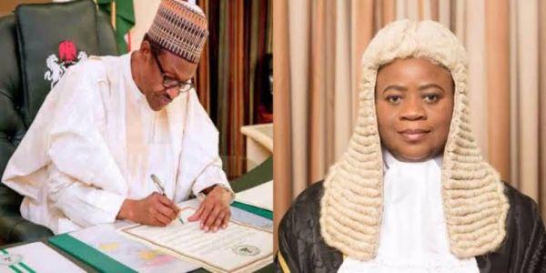 Photo of Buhari sends Dongban-Mensem's name to Senate for confirmation