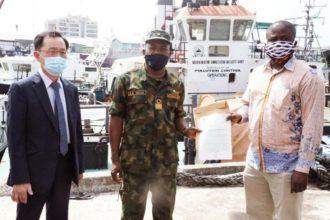 Photo: Nigeria returns seized Marine 707 vessel, 51 crew members to Ghana