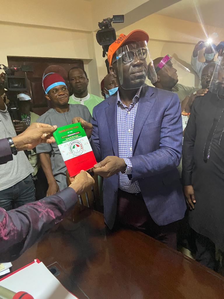 Photo of Edo 2020: PDP presents certificate of return to Obaseki as flag bearer