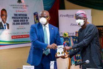 FirstBank presents devices to Lagos towards driving 1 million to students to e-learning
