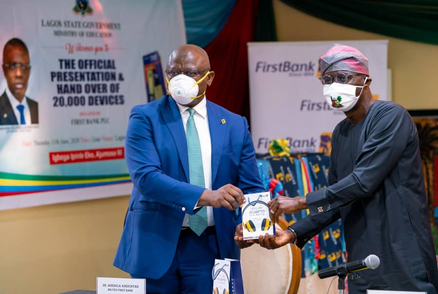 Photo of FirstBank presents devices to Lagos towards driving 1 million to students to e-learning