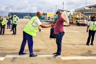 Photos: Strict social distancing as airlines resume domestic flights in Lagos, Abuja