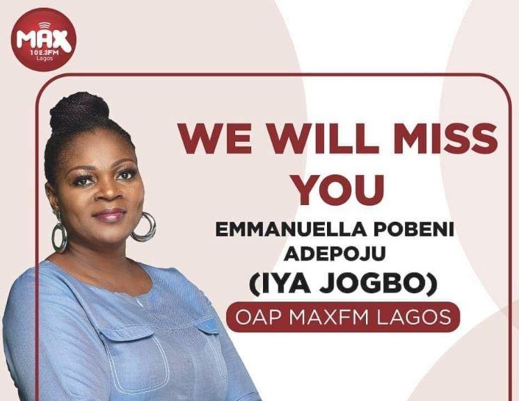 Photo of Radio presenter Iya Jogbo is dead