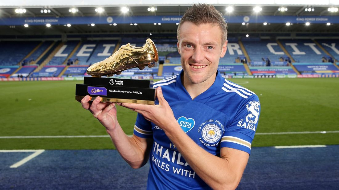 Photo of Leicester City striker, Jamie Vardy wins Golden Boot