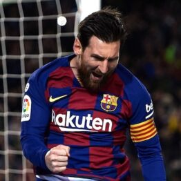 Champions League: Messi puts Barcelona ahead of Napoli to reach last 8