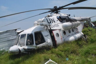 Photo: Boko Haram shoots down UN helicopter, kill five-year-old boy