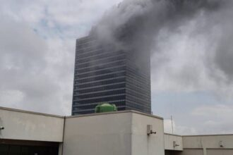 VIDEO: World Trade Centre in Abuja gutted by fire