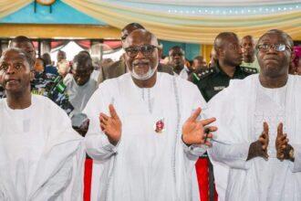 Osinbajo, Fayemi, Akeredolu, others attend ex-Ondo gov's burial