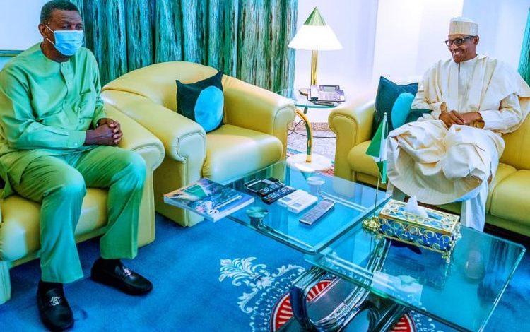 Photo of Photo: Buhari meets Adeboye behind closed door in Aso Villa