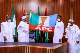 Edo Poll: Buni, Ganduje meet Buhari behind 'closed door' in Aso Rock