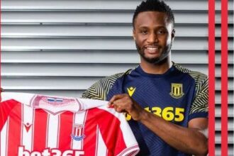 Its Official! Mikel Obi now Stoke City player [Photo]