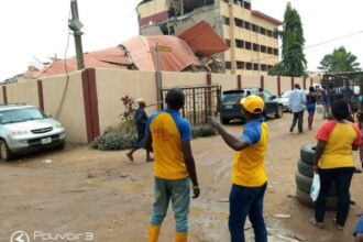 JUST IN: Three-storey school building collapses in Lagos