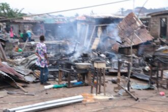 16 injured, plank market, event centre destroyed as gas tanker explodes in Lagos