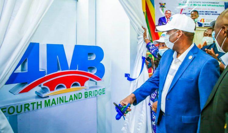 Photo of Lagos unveils fourth mainland bridge logo