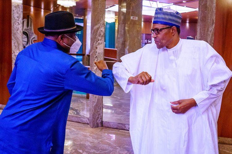 Photo of Mali crisis: Again, Buhari meets ex-President Jonathan in Aso Rock
