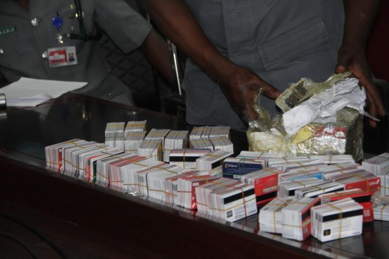 Photo of Customs intercepts Dubai-bound passenger with 2,886 ATM cards at Lagos Airport