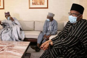 Photos: PDP 2019 election review committee visits Obasanjo, Jonathan, David Mark