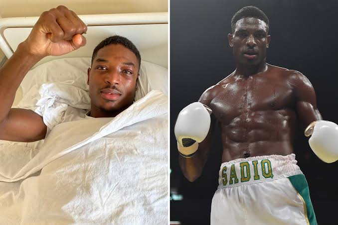 Photo of Nigerian boxer, Sadiq hospitalized, recovers after KO in Russia