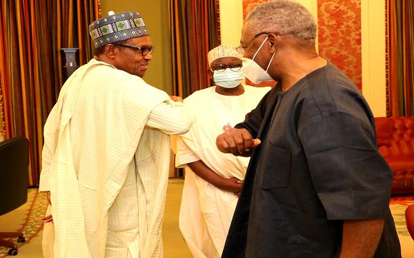 Photo of Buhari meets Gen. T.Y. Danjuma at Aso Villa