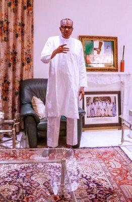 Buhari breaks silence on #EndSARS protests, meets IGP [Photo]