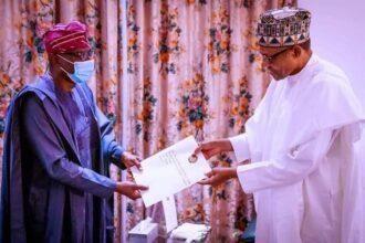 #ENDSARS: Lagos Governor, Sanwo-Olu confers with President Buhari in Abuja