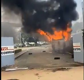 Photo of VIDEO: TVC set on fire