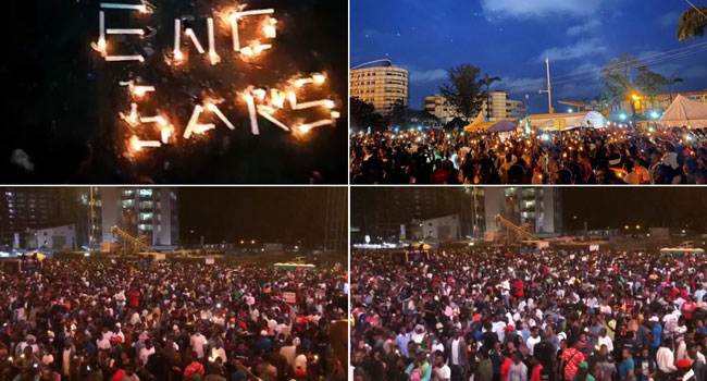 Photo of #EndSARS: Protesters Hold Candlelight Vigil In Lagos, Abuja, Port Harcourt (Video)