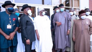 Photo of Photos: Presidential team meets Wike, other South South governors