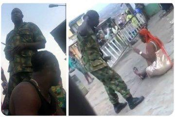 Photo of Soldiers arrested for assaulting lady in Ibadan
