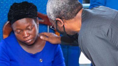 Photo of Josephine Okereke widow of slain vendor disowns N500m demand on Gbajabiamila