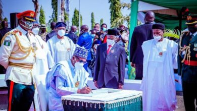 Photo of Buhari, Osinbajo, others lay wreaths to honour fallen heroes