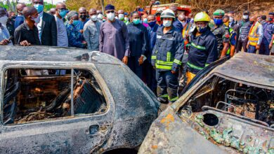 Photo of Photos: Gov. Abiodun visits Abeokuta tanker explosion scene, victims