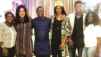 Photo of Toyin Abraham, Laycon, Tuface dine with fans