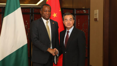 Photo of Chinese foreign minister in Nigeria on two-day state visit