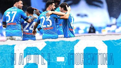 Photo of Napoli thrash Fiorentina 6-0 to go third in Serie A