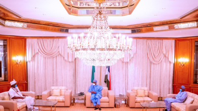 Photo of Photos: Ooni of Ife meets Buhari in Aso Rock