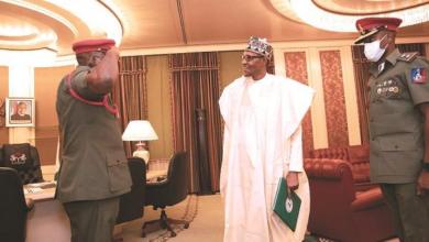 Photo of Photo: Lt. Col. Dodo resumes duties as Buhari's new ADC
